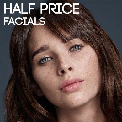 1/2 Price Facials