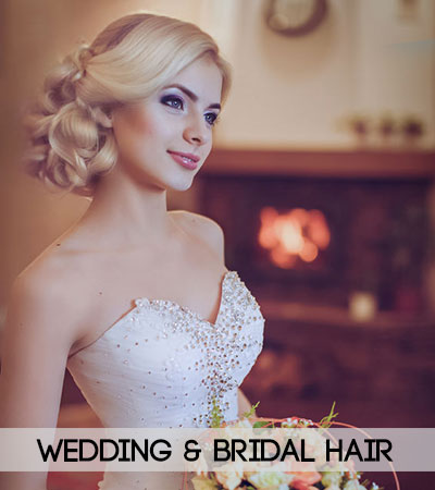 wedding & bridal hair at fringe benefits hair salon in gloucester