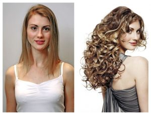 hair extensions before after racoon hair extensions at fringe benefits hair salon in Gloucester
