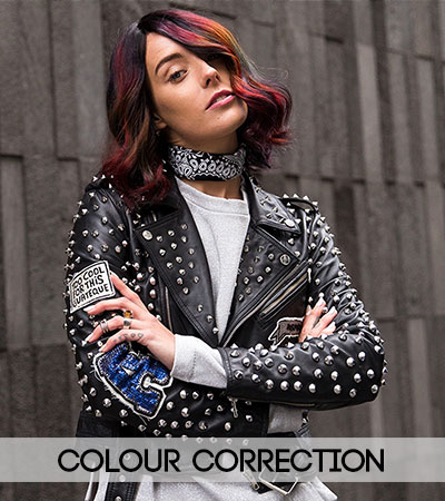 hair colour corection at fringe benefits hair salon in gloucester
