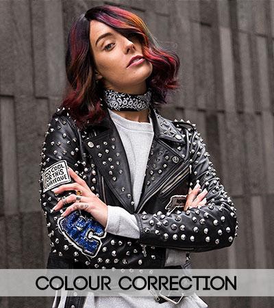 hair colour corection at fringe benefits hair salon in gloucester