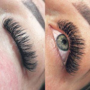 false eyelashes at fringe benefits la bella beauty salon gloucester